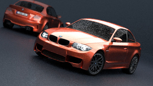 Version 2 of that BMW scene, with the sample count dropped to 3 so it render in under 15 seconds.