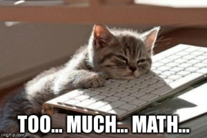 Bored cat: Too... much... math...