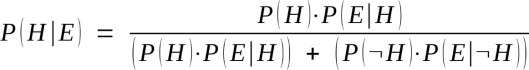 Bayes' Theorem, in binary mode.