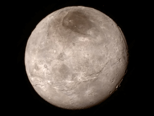 Charon, as seen by New Horizons during the flyby.