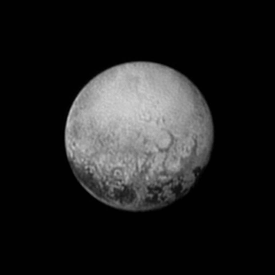 New Horizon's last photo of Pluto's far side, taken July 11th, 2015.