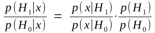 The odds ratio form of Bayes's Theorem.
